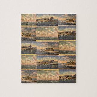 """Puzzle vintage de la """"île de Kelley"""" de cartes"""