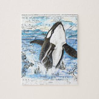 Puzzle Violation de la carte antique d'orque