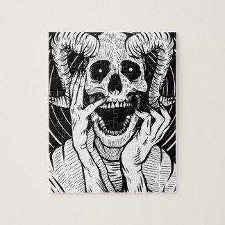 Puzzle visage de diable