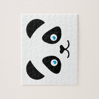 Puzzle visage d'ours panda