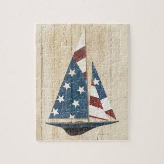 Puzzle Voilier avec le drapeau américain
