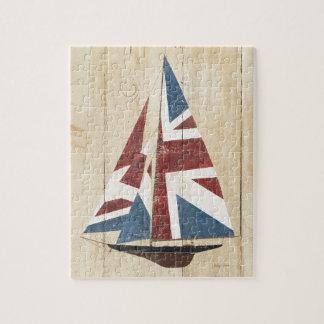 Puzzle Voilier britannique de drapeau