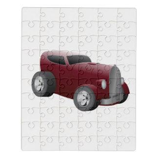 Puzzle voiture de muscle de hot rod de rouge de cerise