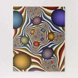 Puzzle Volant, art abstrait moderne coloré de fractale