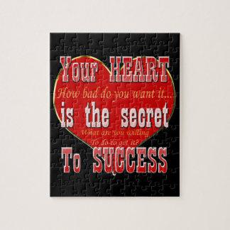 Puzzle Votre coeur est le secret au succès