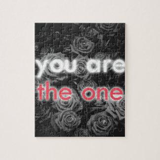"""Puzzle """"Vous êtes l'un"""" cadeau des roses de Valentine"""