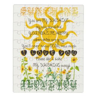 Puzzle Vous êtes mon soleil