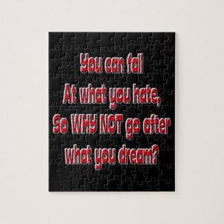 Puzzle Vous pouvez échouer à ce que vous détestez, ainsi