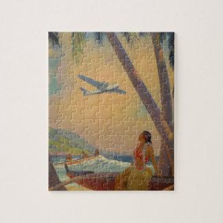 Puzzle Voyage hawaïen vintage - danseuse de fille d'Hawaï