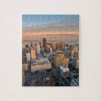 Puzzle Vue aérienne de coucher du soleil de la Californie