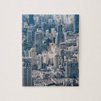 Puzzle Vue aérienne de la Chine de ville crépusculaire de