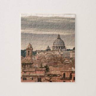 Puzzle Vue aérienne de Rome de Monte Pincio visitant le