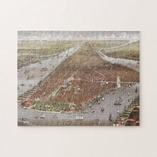 Puzzle Vue aérienne de ville de Manhattan, New York,