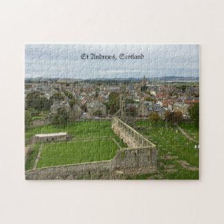 Puzzle Vue aérienne de ville de Saint Andrews de tour de