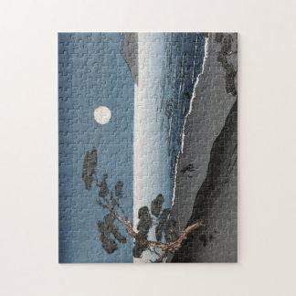 Puzzle Vue de plage d'océan de hausse de Sun de Japonais