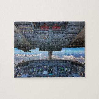 Puzzle Vue d'habitacle d'avion au-dessus des Alpes
