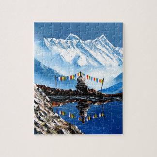 Puzzle Vue panoramique de montagne Népal d'Annapurna