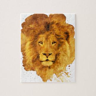 Puzzle Watercolor Lion