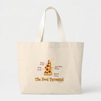 Pyramide alimentaire drôle de pizza grand sac