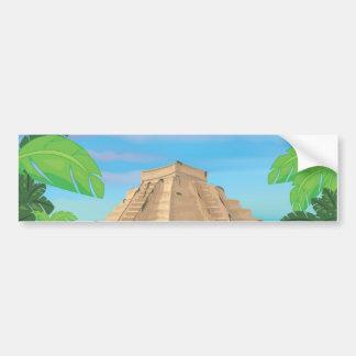 Pyramide aztèque autocollant de voiture