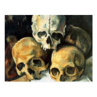 Pyramide de Cezanne de carte postale de crânes