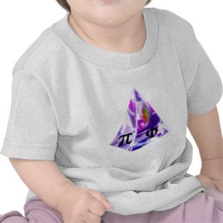 Pyramide le symbole pi et le rapport d'or t-shirt