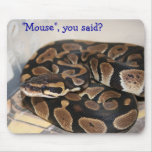 Python de boule intéressé à la souris tapis de souris