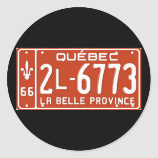 QC66 STICKER ROND