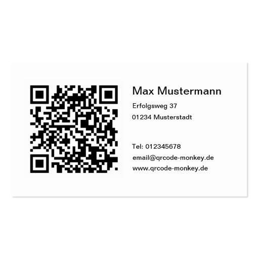 QR Code Cartes De Visite Professionnelles