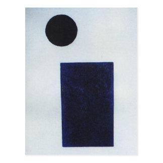 Quadrilatère et le cercle par Kazimir Malevich Carte Postale
