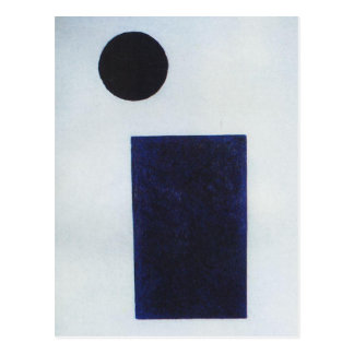 Quadrilatère et le cercle par Kazimir Malevich Cartes Postales