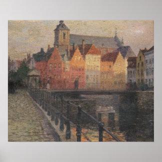 Quai de la Paille, Bruges Posters