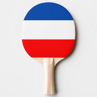 Qualité de drapeau de la France Raquette Tennis De Table