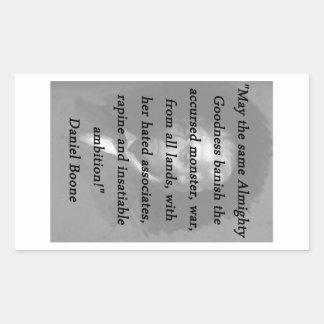 Qualité toute-puissante - Daniel Boone Sticker Rectangulaire