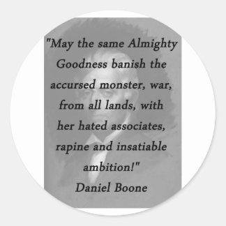 Qualité toute-puissante - Daniel Boone Sticker Rond