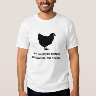 Quand des poulets sont proscrits t-shirts