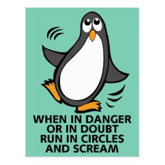 Quand en danger ou dans le graphique drôle de carte postale
