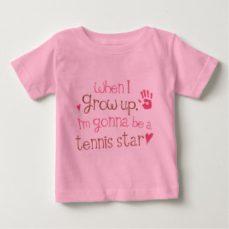 Quand je grandis Im allant être un star du tennis T-shirt Pour Bébé