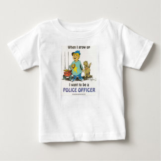 Quand je grandis, je veux être un policier t-shirt pour bébé
