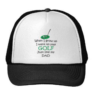 Quand je grandis le golf avec le graphique casquettes