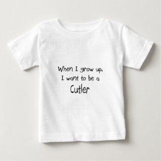 Quand je me grandis voulez être un coutelier t-shirt pour bébé