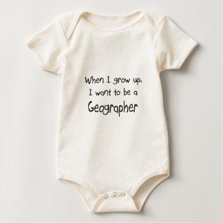 Quand je me grandis voulez être un géographe body
