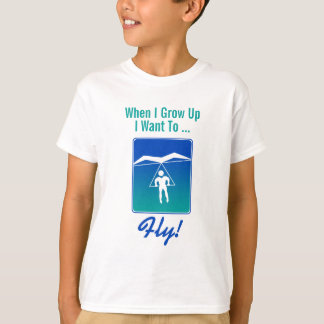 Quand je me grandis voulez piloter le T-shirt