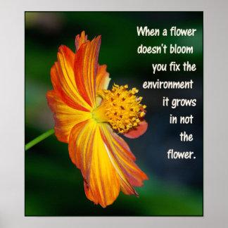 Quand la fleur ne fleurit pas… poster