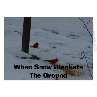 Quand la neige couvre la terre cartes de vœux