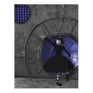 Quand la pluie vient carte postale gothique