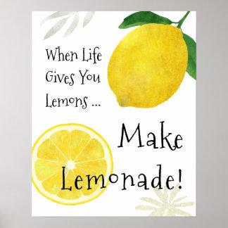 Quand la vie vous donne des citrons, faites poster
