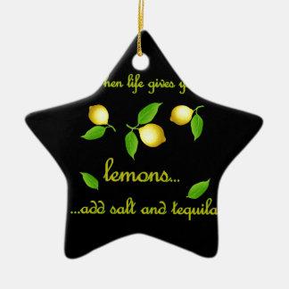 Quand la vie vous donne des citrons ornement étoile en céramique