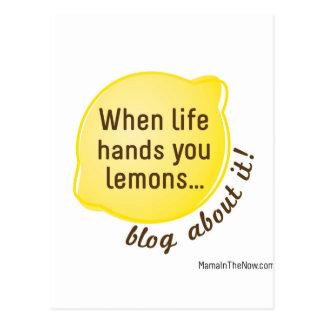 Quand la vie vous remet des citrons. Blog à son Cartes Postales