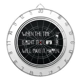 Quand le temps est exact… jeu de fléchettes
